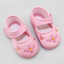 Infant Baby Shoes Kid Cotton Flower Print Solid Skid Proof Sapato Infant Girls Boys Shoes First Walkers