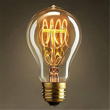 A19 Incandescent Bulbs Vintage Edison Light Bulbs E27 Antique Light Clear Glass 40W 110V/220V Lamp Home Decoration --M25(China)