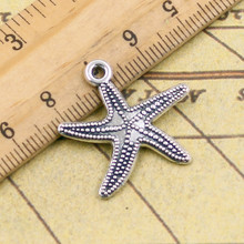 10pcs Charms marine starfish 25*26mm Tibetan Silver Plated Pendants Antique Jewelry Making DIY Handmade Craft