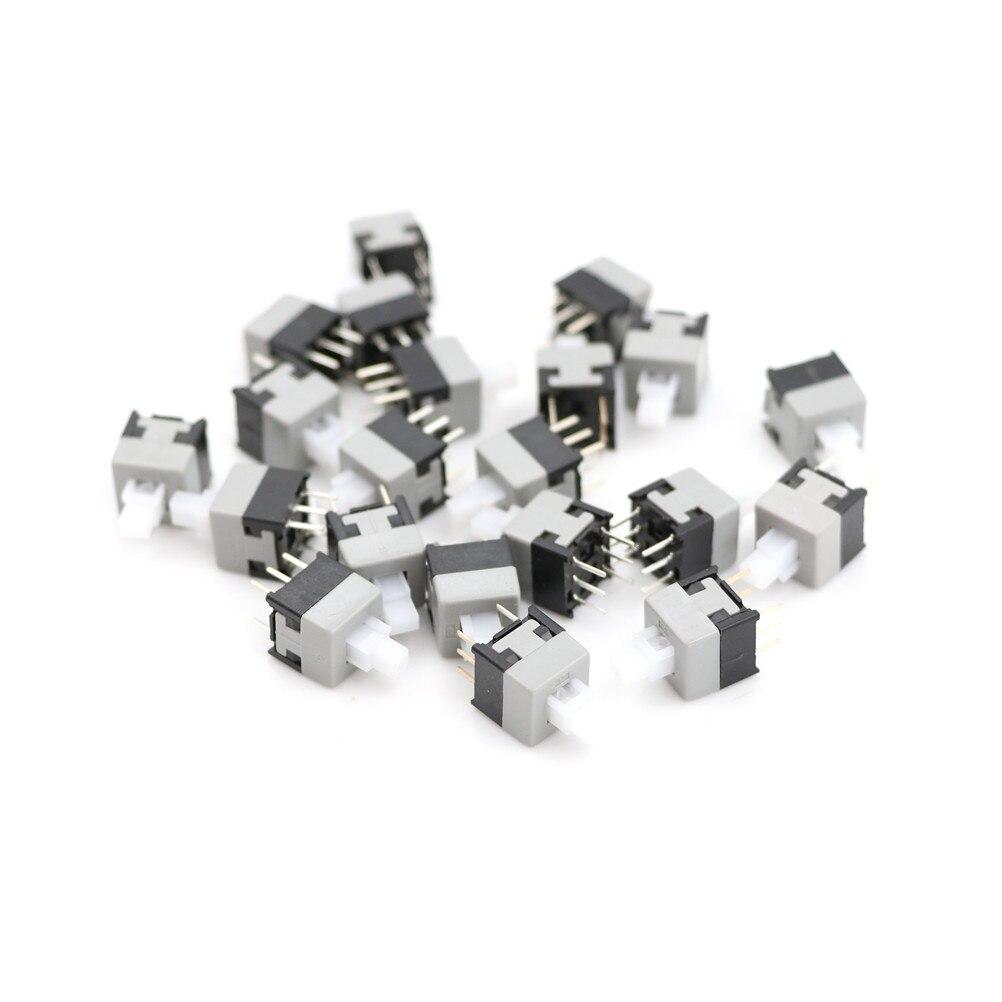 20pcs/lot 6 Pin DPDT Mini Push Button Self-locking Switch 8.5X8.5mm Wholesale