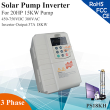 18KW 37A 3phase 380VAC MPPT solar pump inverter for 20HP 15KW water pump(China)