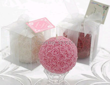 Free Shipping Rose Ball Candle Wedding Favor Wedding Gifts