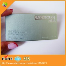 1000pcs/lot metal card / stainless steel metal business cards / etched metal business cards(China)