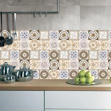 Buy 25Pcs 20*20cm Retro Wall Tiles Stickers PVC Waterproof Bathroom Kitchen Tile Stickers DIY Home Decor Wall Poster for $9.38 in AliExpress store