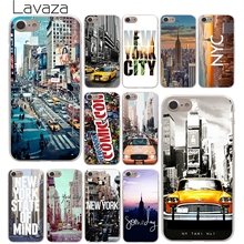 Lavaza New York City Times Square Taxi Hard Phone Cover Case for Apple iPhone 10 X 8 7 6 6s Plus 5 5S SE 5C 4 4S Coque Shell(China)