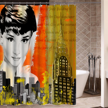 2016 New Fabric Shower Curtain A Variety of Creative High Quality Bathroom Products Eco-Friendly Waterproof Shower Curtain P-110(China)