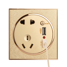 usb port wall face plate Socket+2 USB+Switch Wall Socket Charger AC/DC Power Adapter Plug Outlet Panel wall socket charger