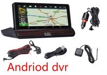 Full HD 7inch Touch Car DVR GPS Android  Dual Camera WiFi Auto Camera Car Center Console rear view car camera