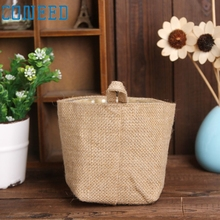 Lovely High Quality  Polka Dot Small Storage Sack Cloth Hanging Non Woven Storage Basket