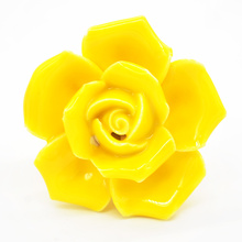 2017 New Fashion Style 5Colors Ceramics Single Hole Rose Drawer Knobs Door Handle For Home Using(China)