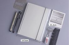Simple Basic Business A5 Coil Spiral Notepad Handbook diary Zipper Bag Included Notebook PP Cover 80 sheets