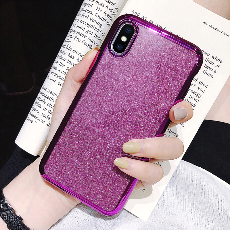 Rhinestone Glitter Case for Apple iphone XS MAX XR 10 X 7 8 Plus 6 S 6s Soft Silicone TPU Diamond Sexy Girl Protector Back Cover (2)