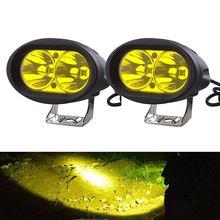 "2PCS 4"" Oval led Work Light 20W Driving Fog Light Yellow Spotlight for Jeep Offroad 4x4 ATV  4WD Golf Cart Tractor Motorcycle"