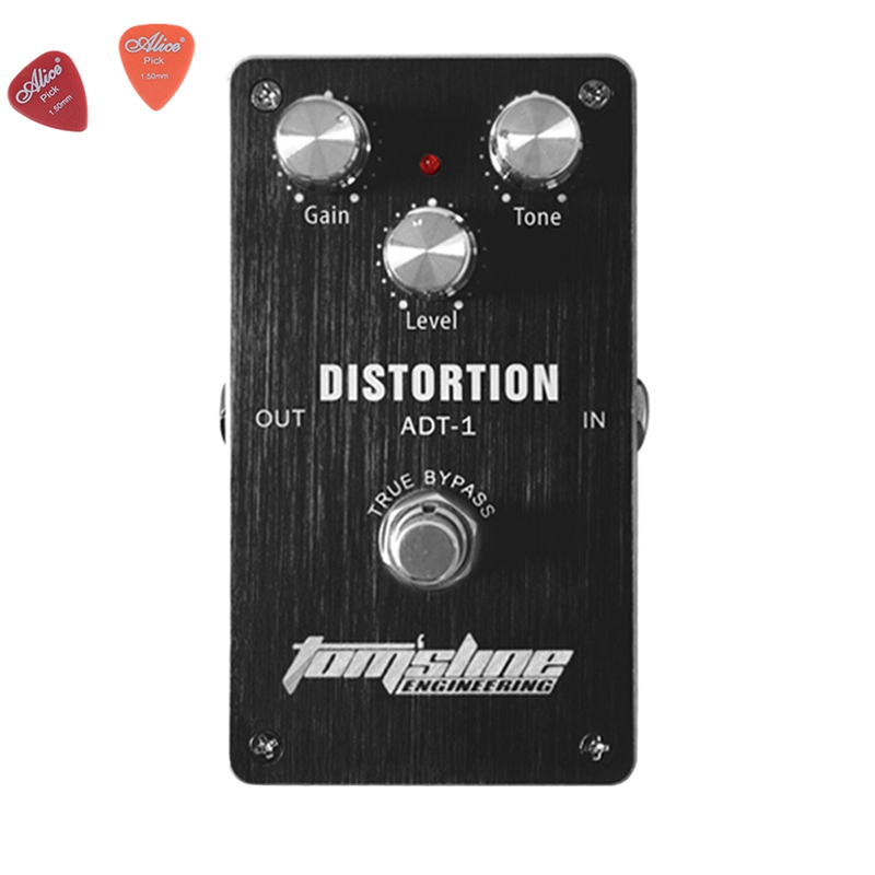 ADT-1 Distortion Premium Analogue Guitar Effect Pedal Aroma Aluminum Alloy Housing Pedals True Bypass Guitar Parts<br>