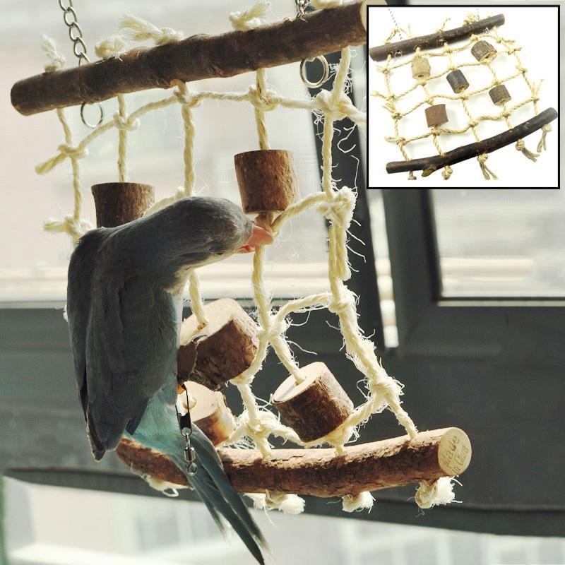 Best Selling Birds Hemp Rope Climbing Net Pet Parrot Chew Toy  Budgie Parakeet Cockatiel Hanging Swing Ladder 9