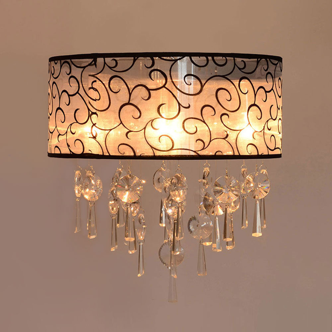 CSS Vintage Crystal Pendant   Light Lamp   Living Room+4 Lights HI5<br>