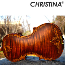 Christina V07-carved Violon 4/4 instruments de musique à la main alto fo jeu professionnel haute qualité violon archet et colophane(China)