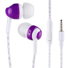 Nice Cool Luminous Neon Earphone With Microphone Night Lighting For All Phone