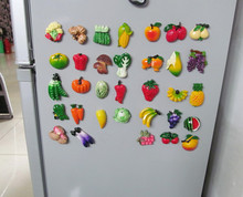 Interspersion lovely fruit decoration refrigerator magnetic stickers decoration magnets imanes de nevera ima de geladeira