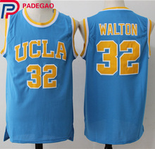 New Cheap 32 Bill Walton UCLA Bruins College Basketball Jersey Embroidery Logos Blue Stitched Jerseys for men gift(China)