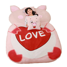 Fancytrader Giant Stuffed Animal Pig Bed Soft Plush Beanbag Mattress Sofa Mat