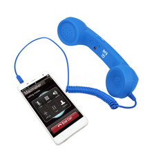 3.5mm Mic Retro Telephone POP Cell Phone Vintage POP Cell Phone Handset Receiver Volume Control for Iphone