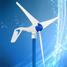 400W 12V/24VDC Output Wind Generator with Build-in Rectifier, High Strengthened Nylon 3PCS Blades, 3 Years Warranty