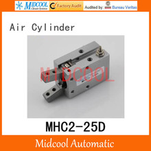 Pneumatic air cylinder gripper MHC2-25D double acting pivot open closed gas claws manipulator(China)