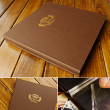 12 inch Coffee Color Craft Paper Cover Bronzing BEST WISHES 25 Sheet 50P General Sticky Type Loose-leaf Photo Album Scrapbooking