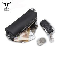 Long Genuine Leather Men Car Key case multi function key holder Women Housekeeper key wallet Large capacity coin change bag
