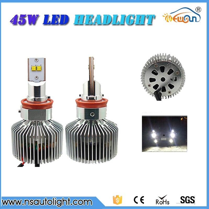 H8 H9 H11 LED Car Auto Fog Driving Lights Headlight Lamp Bulb for DC 12V 24V Car Headlight conversion kit free shipping<br><br>Aliexpress