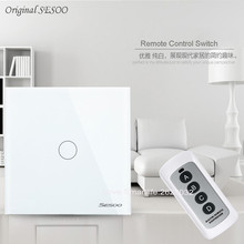 EU Standard SESOO Remote Control Switch 1gang 2gang 3Gang 1 Way,RF433 Smart Wall Switch,Wireless Remote RF Touch Light Switch