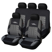 Brand Embroidery Car Seat Covers Set Universal Fit Most Cars Covers with Tire Track Detail Styling Car Seat Protector