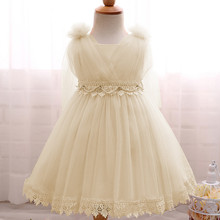 Baby Girl White Wedding Dress Infant Princess Party Dresses Girl Birthday Outfits Newborn Toddler Lace Christening Gowns Dress(China)