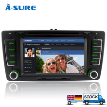 A-Sure 3G In Car 2 Din GPS sat nav Stereo Bluetooth CD DVD Player Navigation For SKODA OCTAVIA (ASSOC)(Hong Kong)