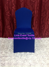 1pcs #29 Royal Blue Lycra Chair Cover Full front ,No Arch Flat Front Lycra Chair Cover for Wedding Events &Party Decoration(China)