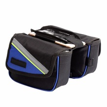 2016 Bicycle Bike Cycling Frame Double Pannier Front Tube Mobile Holder Phone Bag Best Seller