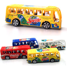 EFHH Children Plastic Pull-back Toys School Bus Car Puzzle Small Toys for Children Educational Gift 1Pcs Color Random(China)