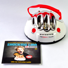 Free Shipping 1Piece Shiny Shocking Lie Detector Machine Shocking Liar Electric Shock Game Party Essentials