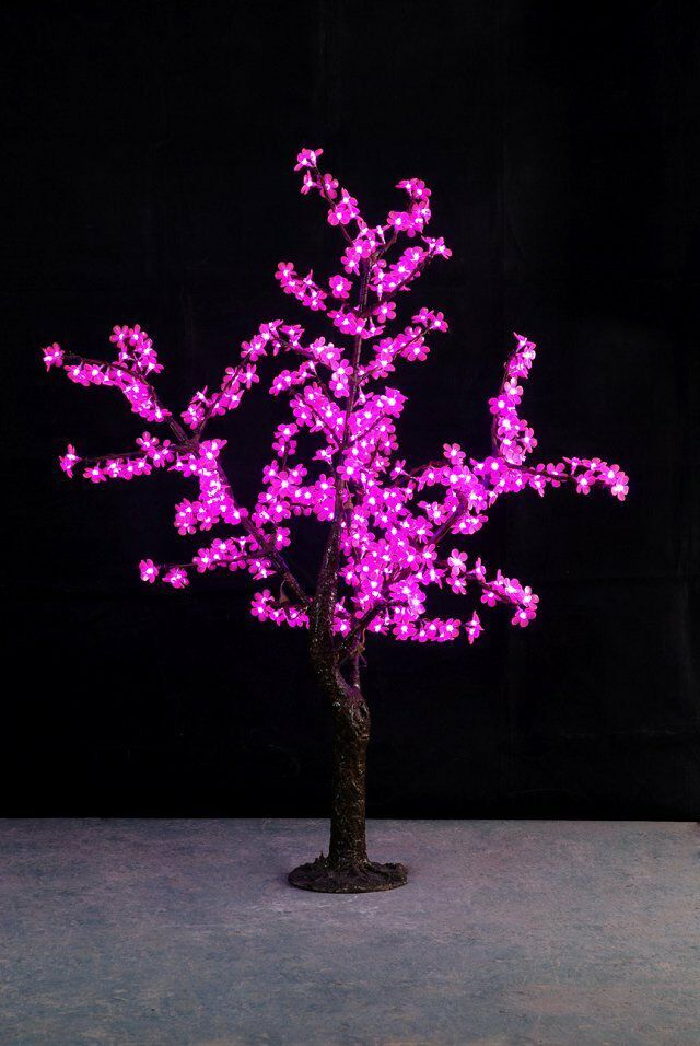 1.5M 5ft PINK LED Simulation Cherry Blossom tree Light outdoor Christmas Wedding Garden Holiday Light Decor 480 LEDs waterproof(China (Mainland))