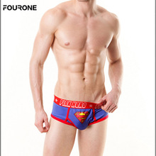 Super hero Cotton breathable Men's Briefs Middle Waist Sexy Underwear underpant calzoncillos hombre Fashion(China)