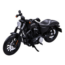 Maisto 1:12 Scale Model Motorcycles Toys Diecast Metal & ABS Alloy Halley 883 Motorbike Model Toy Rubber Tire Boys Gift Juguetes
