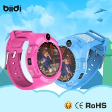 Security Kids Smart Watch GPS LBS Location 1.22 Round Touch Screen Anti-Lost Monitor Tracker Camera Wristband pk Q50/q90/q100