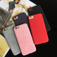 For iPhone 6 6S 6plus 6Splus 7 7plus Soft warm Velvet flannel protective Phone bags cases cover luxury backshell for winter(China)