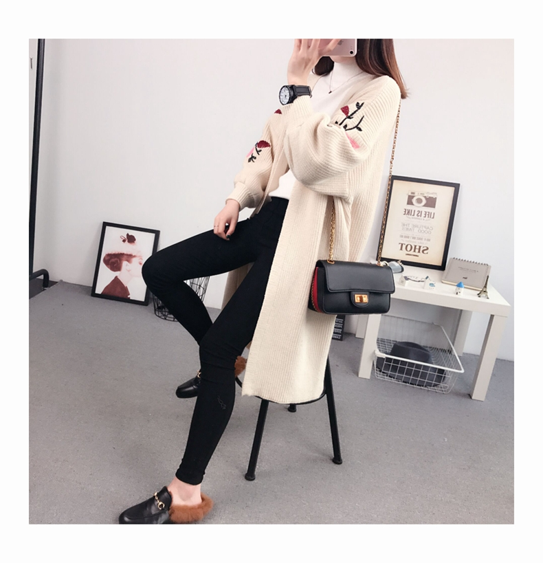 2017 Korean fashion autumn and winter new pregnant women sweater sweater sweater coat jacket in the long section<br>