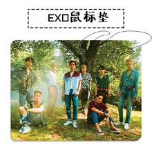New kpop EXO Regular four album BAEKHYUN SUHO XIUMIN The Same rubber mouse pad 260*210mm