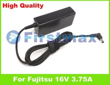 16V 3.75A 60W laptop AC power adapter charger for Fujitsu LifeBook U1010 U2010 U2020 U810 U820 U8240 U8250 U8270(China)