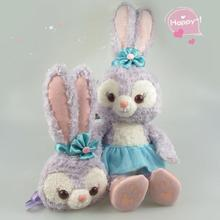 New Duffy Bear Friend Stella Lou Rabbit Plush Doll Toy Cute Long Eared Ballet Rabbits Plush Bag Soft Stuffed Doll For Girls Gift(China)