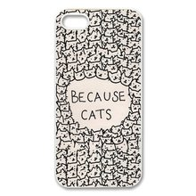 2015 Authentic Cats Animal Cat Cartoon Funny Patterned Hard Back Cover For iphone 4s 5s 5c 6 6 plus Phone protection case