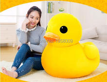 1M Lovely Rhubarb Duck Plush Toys Yellow Duck Doll Rubber Duck Jumbo Plush  High Quality Nice Gift for kids Friends